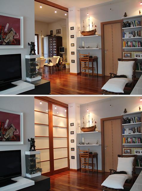 Divisorio ingresso soggiorno idee per il design della casa for Muretto divisorio ingresso soggiorno